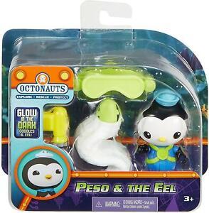 Octonauts Peso & Eel Figures Glow-in-the-Dark Goggles Fisher-Price DEALS
