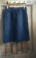 ladies vintage skirts size 10 pencil skirt small vtg clothing navy blue spotted
