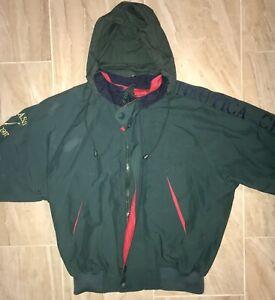 Nautica Challenge J-Class Sailing Hooded Full Zip Jacket Coat Green Mens (XL)