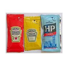 50 Heinz English Mustard, 50 Heinz Tomato Ketchup & 50 HP Sauce-Individ Sachets