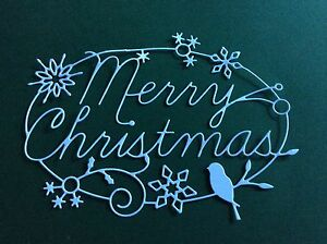 8 x Memory box MERRY CHRISTMAS TIDINGS die cuts **FREE UK POSTAGE***