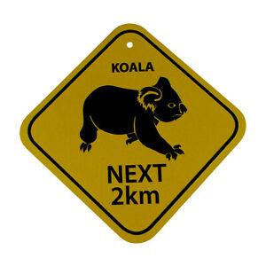 Metal Plate Souvenir Australian Koala Next 2km Australia Road Sign 30.5cm