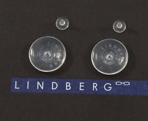 Authentic LINDBERG 10mm Round Silicone Replacement Nose Pads Snap-in Pin Style