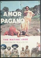 Mating Urge Amor pagano global courtship naked island natives  movie poster 2180