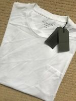 "ALL SAINTS OPTIC WHITE ""TORR"" OVERSIZED CREW T-SHIRT TOP XS S M L XL - NEW TAGS"