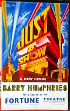 "1969 POSTER Barry Humphries ""Just a Show"" Fortune Theatre Dame Edna Everage"