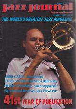 JAZZ JOURNAL MAGAZINE 1989 MAR URBIE GREEN, CHICK WEBB, HERBIE STEWARD