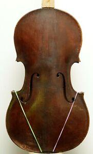 Late 1800 full size English violin / for repair & restoration
