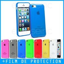 Coque Housse Case Bumper GEL SILICONE TPU iPhone 4S 5S 5C 6S 7 / 8 PLUS + Film