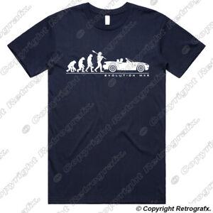 Personalised Evolution T-shirt For Mazda MX5 Mk3 Eunos Miata Fans Birthday Gift