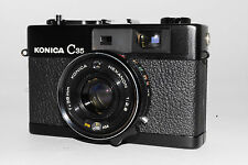 """Excellent+"" Konica C35 Rf Camera Black with 38mm f2.8 Lens From Japan *317"