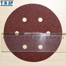 25pc 150mm 6 Sandpaper Hook Loop Sanding Pad Paper Disc Grits 60 80 120 180 240