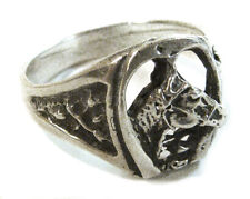 Ring Size 12.75 from Mexico Taxco .950 Sterling Silver Vintage Horseshoe