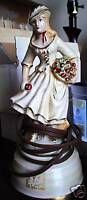 Unique Vintage Porcelain Victorian Woman Lighted Figure