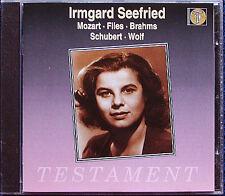 Irmgard Seefried Mozart roccioso Brahms Schubert Wolf CD vado, ma dove sei? o dei!
