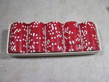 100 Red $10 High Quality Poker Chips NIB NOS New