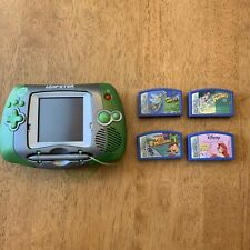 LeapFrog Leapster Learning Game System Green with 4 Games Please Read Desc.
