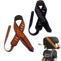 """Adjustable Suede Leather Guitar Strap 38-53"""" for Acoustic Electric Guitar Bass"""