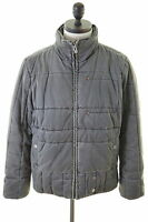 G-Star Mens Padded Jacket Size 42 Large Grey Cotton