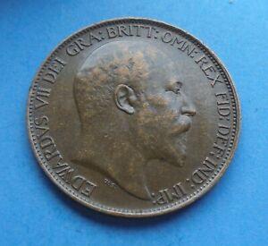 1908 Edward Vll, Halfpenny, as shown.