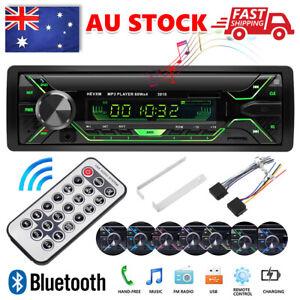 Car Stereo Bluetooth Audio FM Radio MP3 Player USB SD AUX Head Unit 1DIN In-Dash