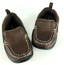 Toddler Boy's Choc. Brown Loafers, Sz 4M, Faded Glory Buckstitched: Pre-Owned