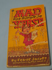 1975 Mad For Better Or Verse By Frank Jacobs Warner Books Comic Digest