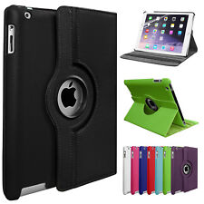 360 Rotating Leather Stand Case Cover For iPad 2 3 4 Mini 1 2 3 4, Air & Pro Lot