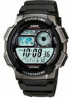 Casio Men's AE1000W-1BV Black Resin Quartz Watch with Digital Dial