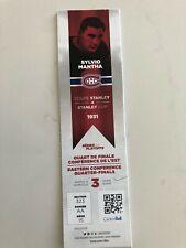 unused hockey tickets Montreal Canadiens Stanley cup playoff 2017 Sylvio Mantha