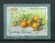 French Polynesia 2017 MNH Orange Scented 1v Set Oranges Fruits Stamps