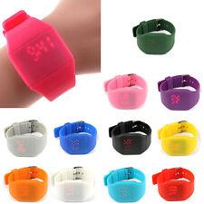 Waterproof Kids Boys Girls Digital LED Touch Sport Silicone Bracelet Wrist Watch