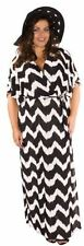 Striped Polyester Plus Size Maxi Dresses for Women