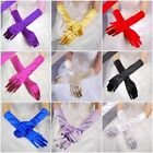 Stylish Satin Long Gloves Wedding Bridal Evening Party Opera Costume Gloves M