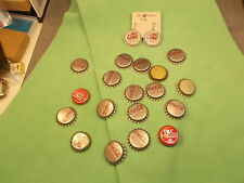 LOT OF OLD VTG COCA-COLA (MOSTLY) BOTTLE CAPS, INCL DIET COKE EARRINGS, VG COND