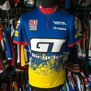 TEAM GT BICYCLES MBK MOUNTAIN BIKE CYCLING SHIRT DE MARCHI JERSEY SIZE ADULT M