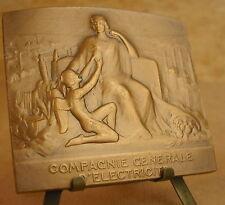 Médaille  Art Déco Compagnie Générale d'Electricité Signée E Blin  Medal 勋章