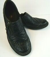 Clarks Bendables Women's Black Crinkle Leather Loafers Shoes US Size 8