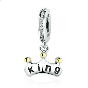 King Silver Cz European Charm Beads Fit Necklace Bracelet Making Gifts
