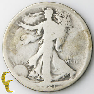 1921 Walking Liberty Half Dollar (About Good, AG) Key Date Low Mintage 50c 1/2