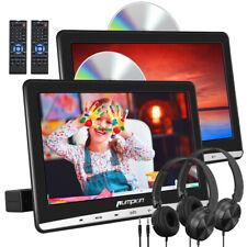 """2*12""""HD Slot-in Auto Kopfstütze DVD CD Player Monitor USB/SD AV IN/OUT+Kopfhörer"""