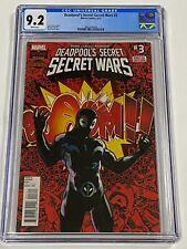 DEADPOOLS SECRET SECRET WARS 3 CGC 9.2 Marvel Comics 9/15 1st Deadpool venom