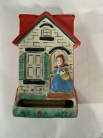 Vintage Hull Little Red Riding Hood Wall Hanging Match Box