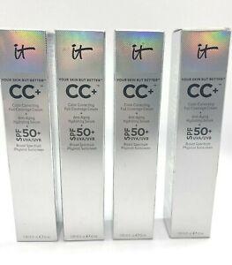 IT Cosmetics CC+ Cream Full Coverage + Anti-Aging Serum SPF 50+ 1.08oz ~YOU PICK