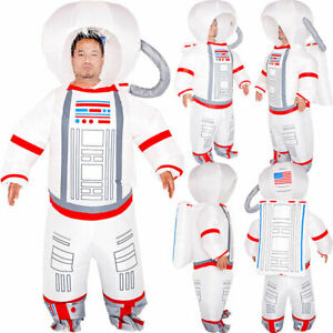 Adult Inflatable Halloween Astronaut Spaceman Body Blow up Costume Party Cosplay