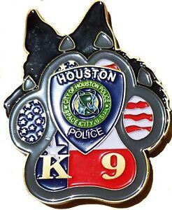 Houston Texas Police Dept K-9 Partner Challenge coin 97
