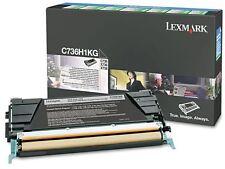 Lexmark GENUINE/ORIGINAL Black Laser Toner Cartridge C736H1KG C536/X736/X738