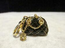 Rare Juicy Couture 14 Kt Yellow Gold Plate Quilted Bowler Bag Charm
