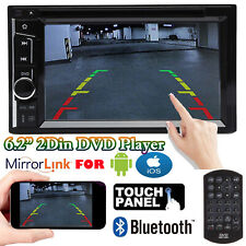 2DIN Car Stereo CD DVD In-Dash Digital Media Player Bluetooth Mirrorlink For GPS