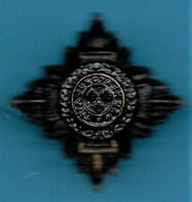 BRITISH ARMY OFFICERS RANK PIPS BLACK METAL LUG FITTINGS